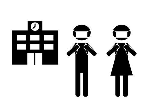 學校和麵具小學象形圖