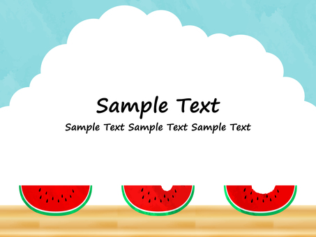 Watermelon Background Material No. 1