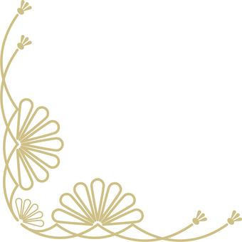 Japanese style decorative frame (gold frame decorative frame 12)