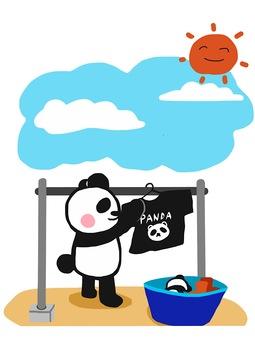 Cleaning panda washing