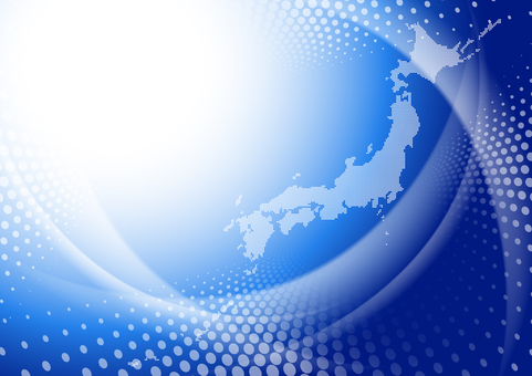 Dot Japan map background abstract image