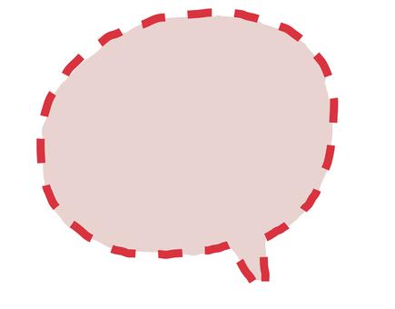 풍선 점선 핑크