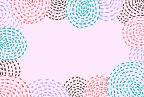 Raindrop water ripples frame pink