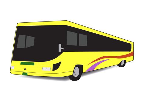 Tourist bus Yellow