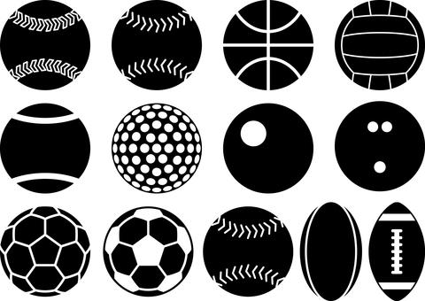 ボール スポーツ シルエット セット