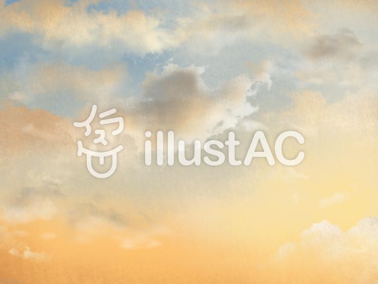 【フリーイラスト素材】夕焼けの空