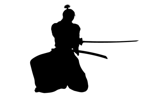 Samurai silhouette 7