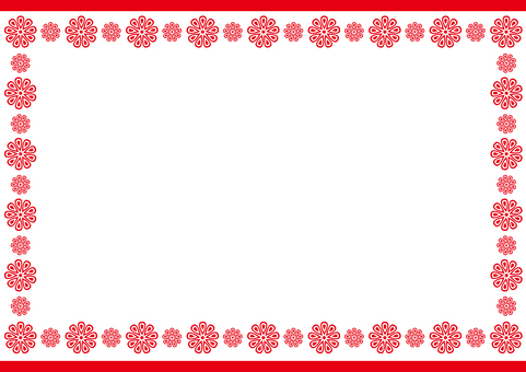 Frame - Enclosure Flowers - Red