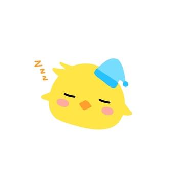 잘자요 병아리