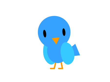 Positive blue bird