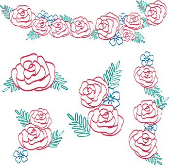 Roses flower arrangement
