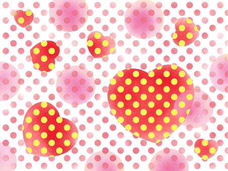 Heart polka dot girl
