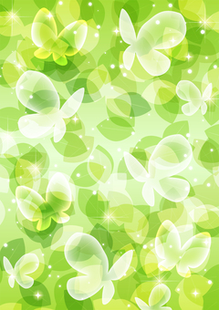 Fresh green and butterfly glitter whole background
