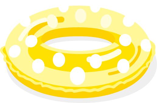 튜브 물방울 옐로우
