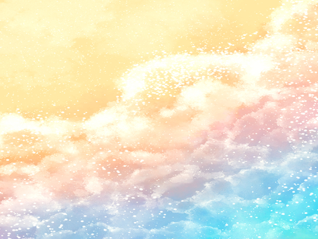 Sea watercolor background material 03 / a