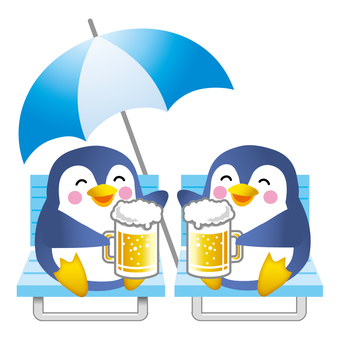 Penguin toast with beer