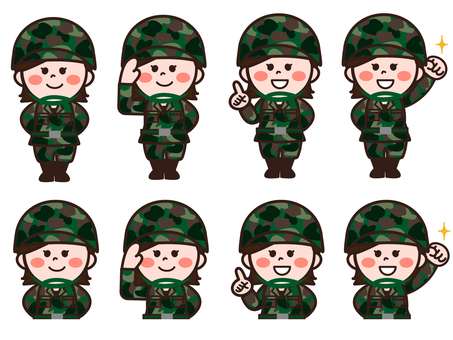 Self Defense Force personnel (female) set