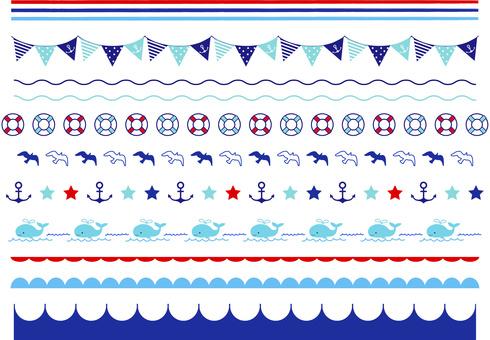 Marine line material Sea