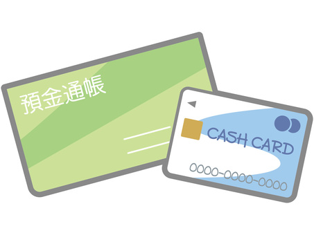 Passbook and cash card