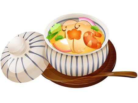 Autumn taste · Matsutake mushroot custard