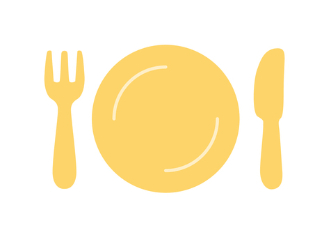 Cutlery set Orange