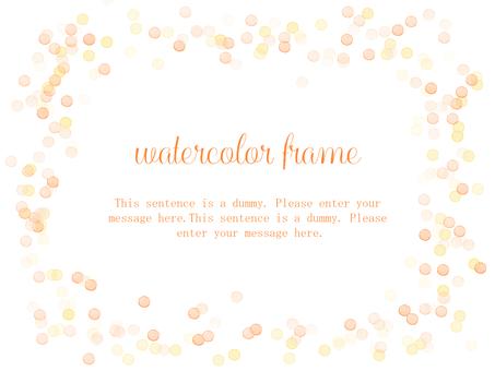 물방울 프레임 / 오렌지