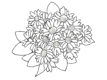 向日葵花束(畫線)