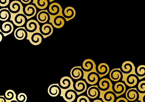 Background _ vortex cloud _ gold black