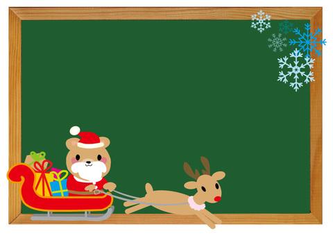 圣诞黑喙黑板风格