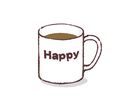 찻잔 - 해피 - 커피