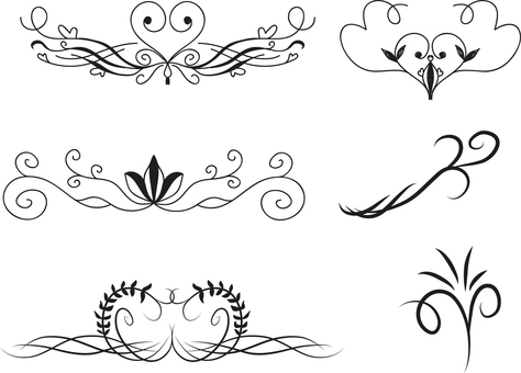 Various decorative rulers
