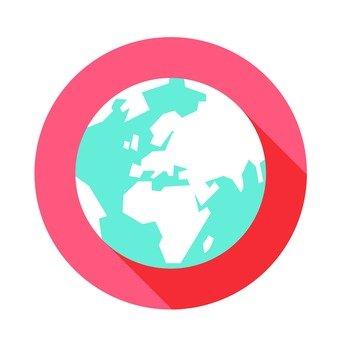 Flat icon - Earth