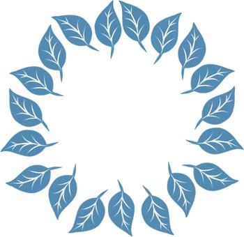 Leaf Circle (blue)