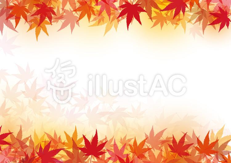 背景テクスチャ紅葉もみじ秋壁紙秋色和素材イラスト No 532204