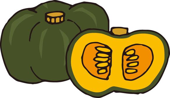 Vegetables (pumpkin / cross section)