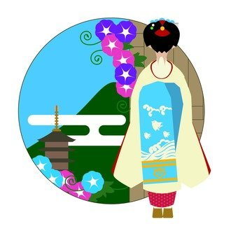 Maiko in the summer