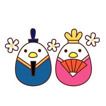 Hina dolls of birds