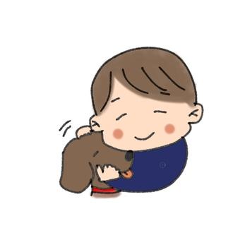 Dog and boy