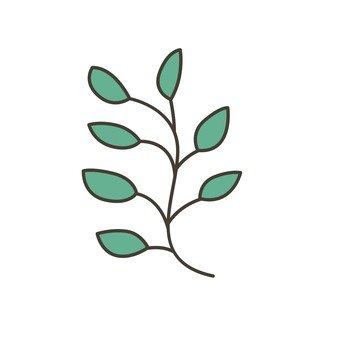 Scandinavy leaves (blue)