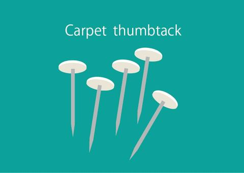 Carpet thumbtack