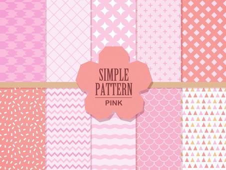 Simple pattern 【pastel pink】