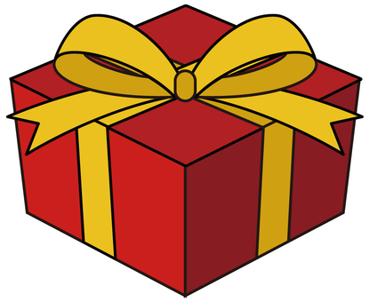 Present Box Red (with Edge)