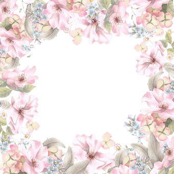 Single rose flower frame - frame