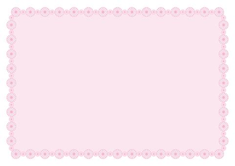 프레임 - 꽃의 고리 - 핑크