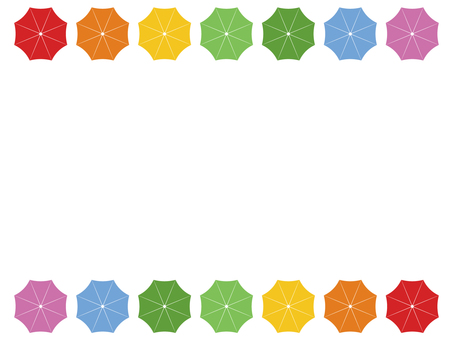 Colorful umbrella frame / frame
