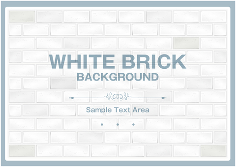 White brick background