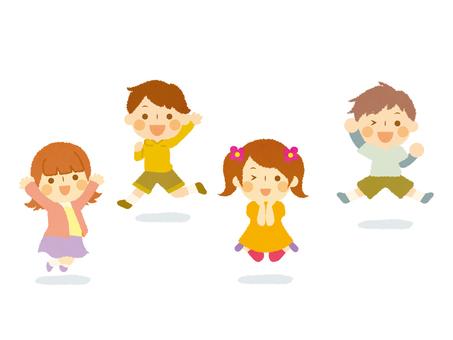 점프 뛰는 아이들