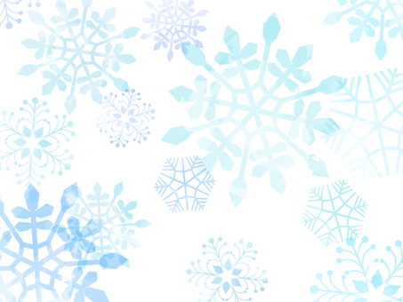 Snowflake background material 01 / blue