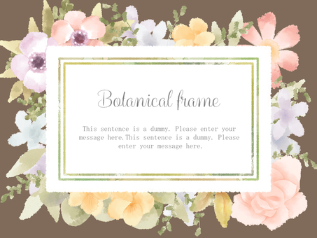 Flower frame 02 / brown