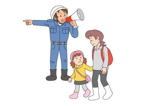 疏散指南和母女